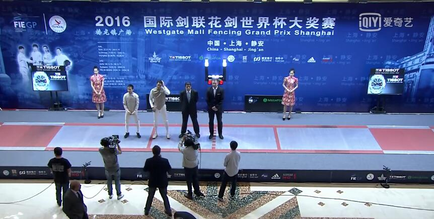 FE M F Individual Shanghai CHN GP 2016 Final podium MASSIALAS USA vs LEE KOR